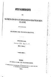 Sitzungsberichte: Biologie, Mineralogie, Erdkunde und verwandre Wissenschaften. Abt. I., Band 12