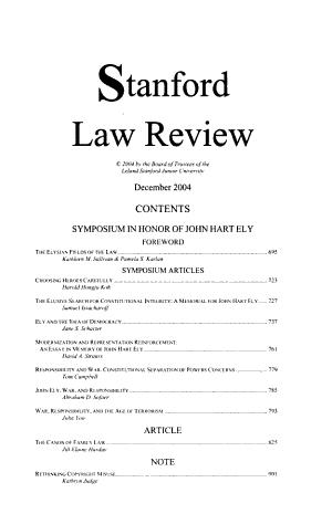 Symposium in Honor of John Hart Ely PDF