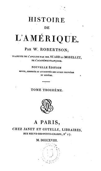 Histoire de l   Am  rique PDF