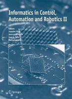 Informatics in Control  Automation and Robotics II PDF