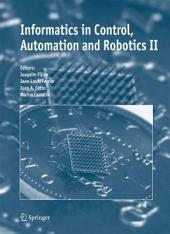 Informatics in Control, Automation and Robotics II