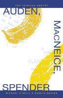 Auden, MacNeice, Spender: The Thirties Poetry