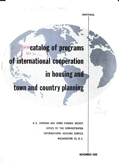 Catalog of programs of international cooperation in housing and town and country planning PDF
