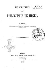 Introduction a la philosophie de Hegel A. Véra
