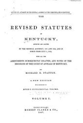 The Revised Statutes of Kentucky: Volume 1