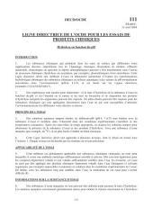 Lignes directrices pour les essais de produits chimiques / Section 1: Propriétés Physico-Chimiques Essai n° 111: Hydrolyse en fonction du pH