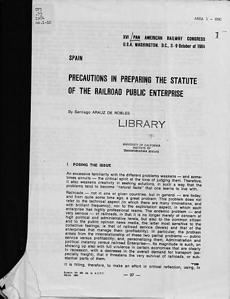 XVI Pan American Railway Congress PDF