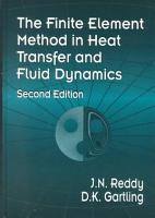 The Finite Element Method in Heat Transfer and Fluid Dynamics  Second Edition PDF