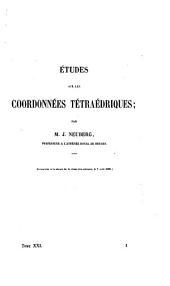 Études sur les coordonnées tétraédriques