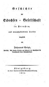 Geschichte der Eidechsen-Gesellschaft in Preussen: aus neuaufgefundenen Quellen dargestellt