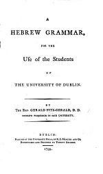 A Hebrew Grammar, for the use of the students of the University of Dublin