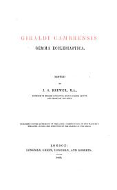 Giraldi Cambrensis Opera: Issue 21, Volume 2