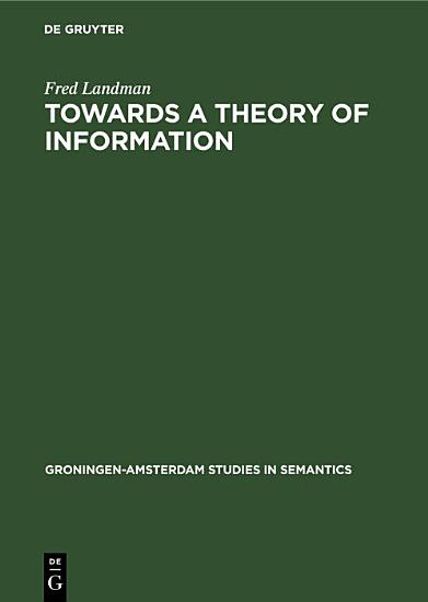 Towards a theory of information PDF
