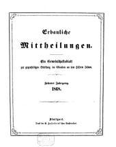 Erbauliche Mitteilungen: e. Gemeinschaftsbl. zur gegenseitigen Stärkung im Glauben an d. Herrn Jesum, Band 10