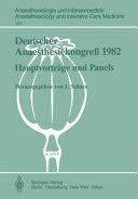 Deutscher Anaesthesiekongre   1982 Freie Vortr  ge PDF
