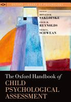 The Oxford Handbook of Child Psychological Assessment PDF