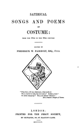 Satirical songs and poems on costume: from the 13th to the 19th century, Volume 27