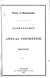 Journal of the ... Annual Convention, Diocese of Massachusetts: Volumes 81-83