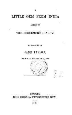 A little gem from India  Jane Taylor PDF
