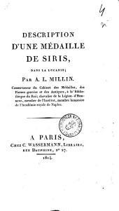 Description d'une médaille de Siris, dans la Lucanie; par A. L. Millin. ..