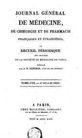 Journal général de médecine, de chirurgie et de pharmacie françaises et étrangères: Volume 46
