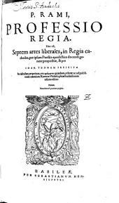 Professio Regia: h.e. septem artes liberales