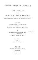 Corpus poeticum boreale  Eddic poetry PDF