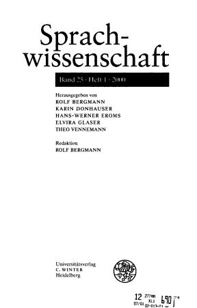 Sprachwissenschaft PDF