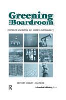 Greening the Boardroom PDF