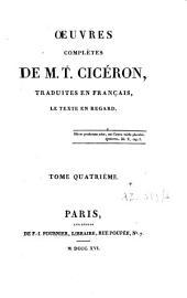 Oeuvres complètes de M.T. Cicéron: Volume4
