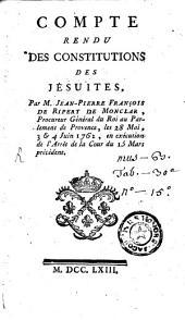 Compte rendu des Constitutions de Jesuites