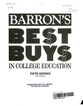 Barron s Best Buys in College Education PDF