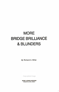 More Bridge Brilliance   Blunders