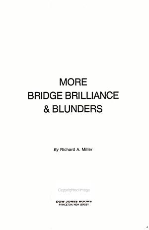 More Bridge Brilliance   Blunders