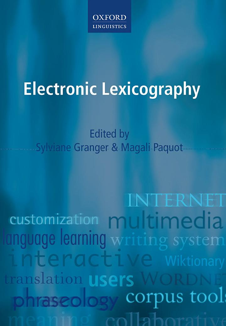 Electronic Lexicography