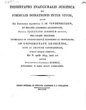 De formulis donationis inter vicos