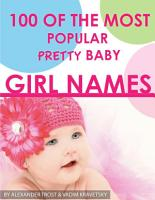 100 of the Most Popular Pretty Baby Girl Names PDF