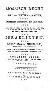 Mosaïsch recht of Ziel der wetten van Moses: Volume 2