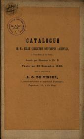 Veilingcatalogus, boeken van Dr B..., 22 december 1862