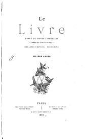 Le Livre revue mensuelle ...: Volume10