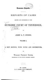 Reports of Cases Argued and Determined in the Supreme Court of Tennessee: Volume 33