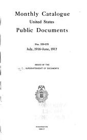 Monthly catalogue, United States public documents: Issues 259-270