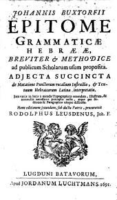 Epitome grammaticae Hebraeae