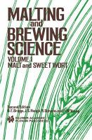 Malting and Brewing Science  Malt and Sweet Wort PDF