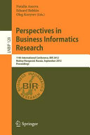 Perspectives in Business Informatics Research PDF