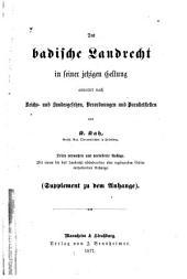 Das badische Landrecht annotirt