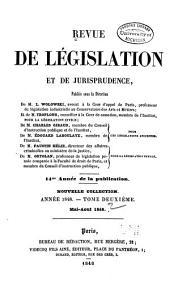 Revue de législation et de jurisprudence