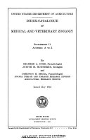 Index catalogue of medical and veterinary zoology  1961 suppl  11 PDF