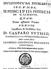 De principiis physicis in communi