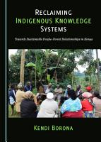 Reclaiming Indigenous Knowledge Systems PDF